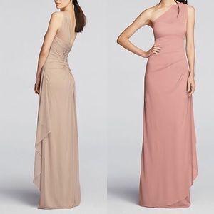 Long Mesh One Shoulder Illusion Dress